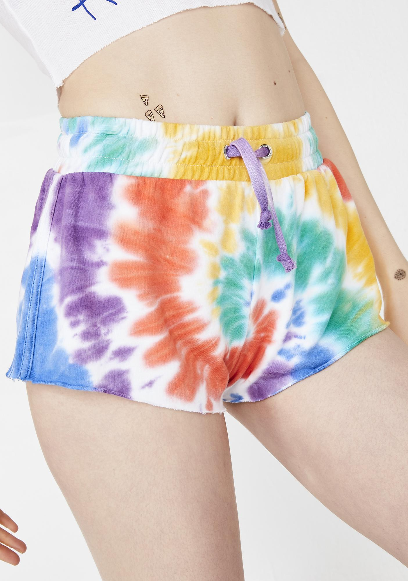 Trippy Delight Tie Dye Shorts by Current Mood