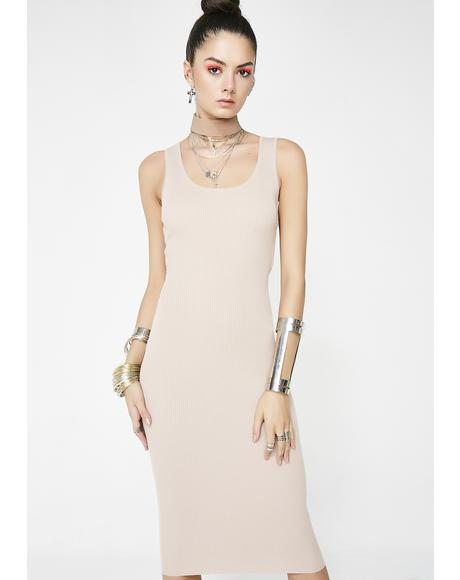 Nude So You Maddd Midi Dress
