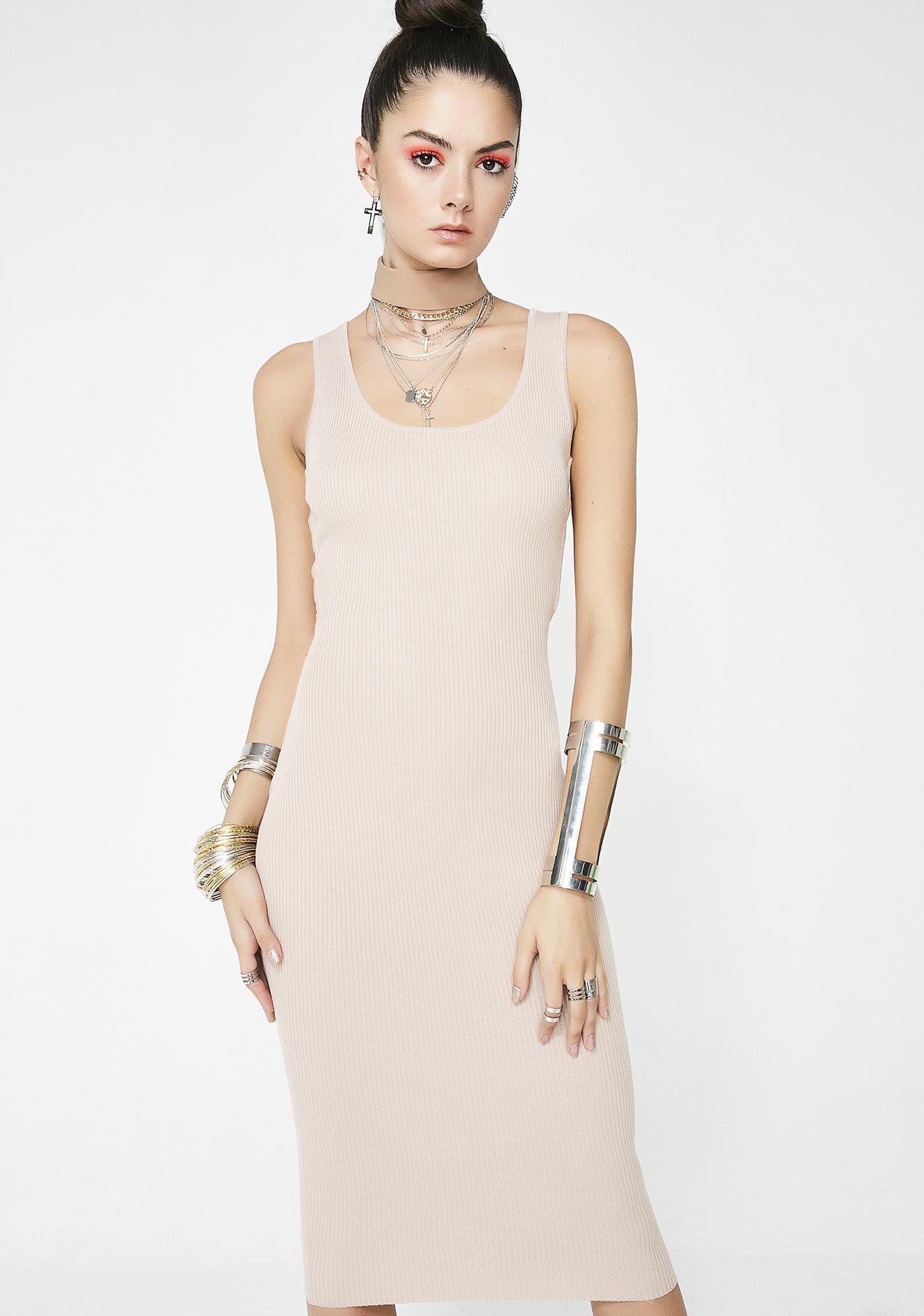 Nude So You Maddd Midi Dress