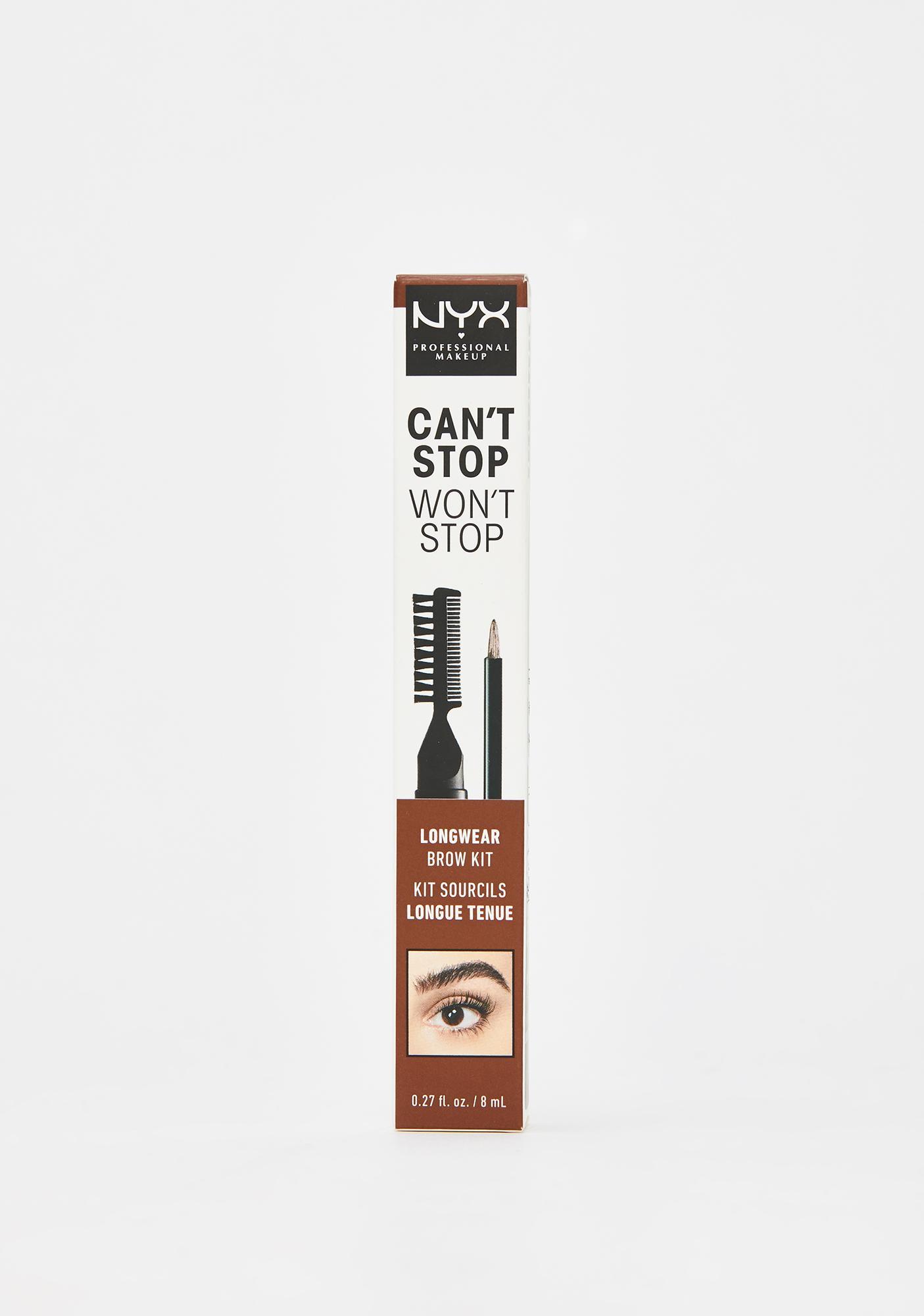 NYX Professional Makeup Brunette Can't Stop Won't Stop Longwear Brow Kit