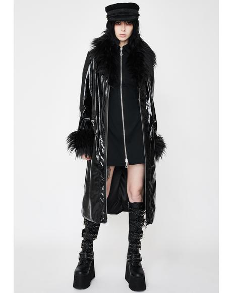 Misfit Vegan Leather Coat
