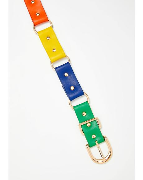 Candy Belt Rainbow Choker