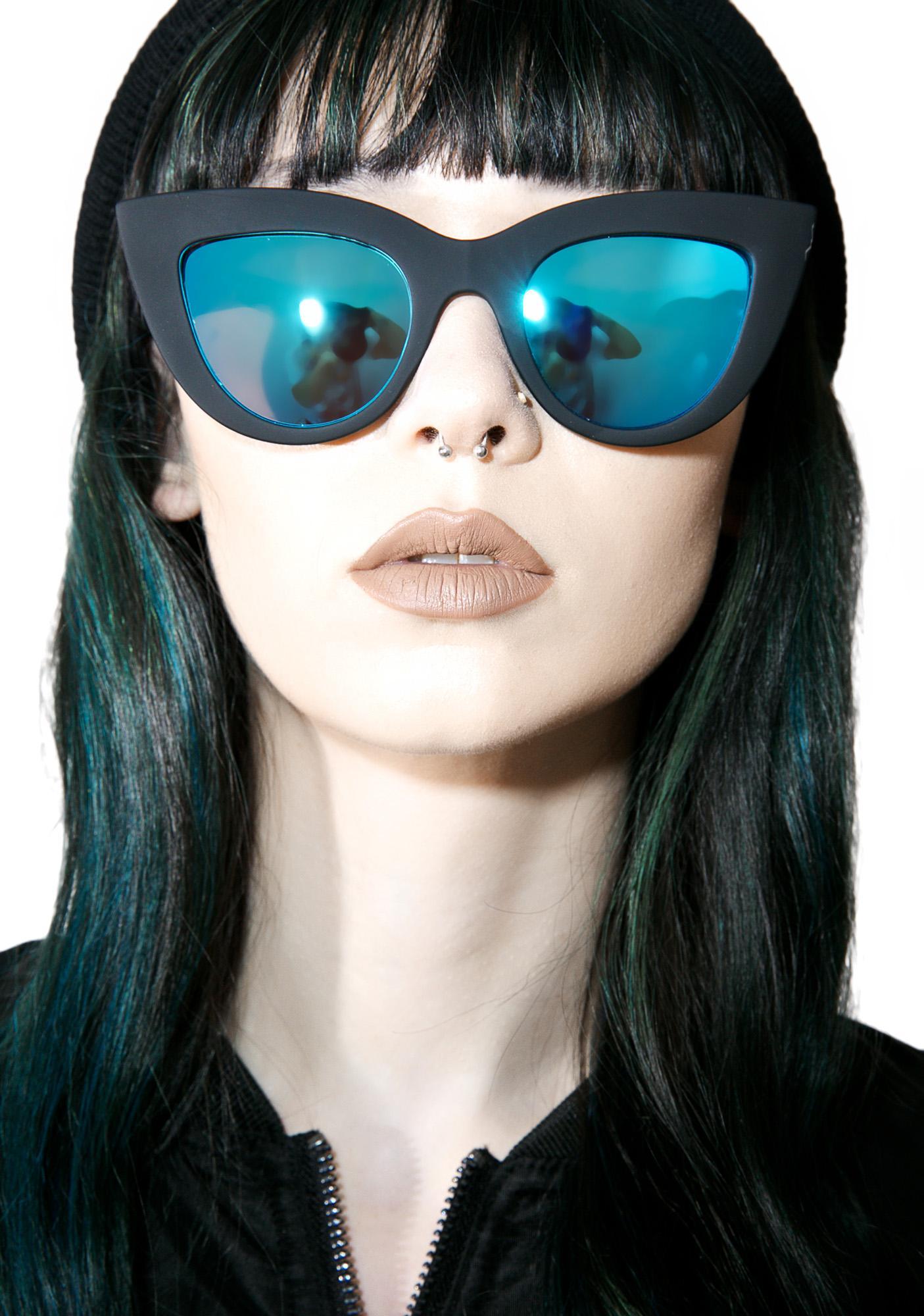 Quay Eyeware Black Kitti Sunglasses