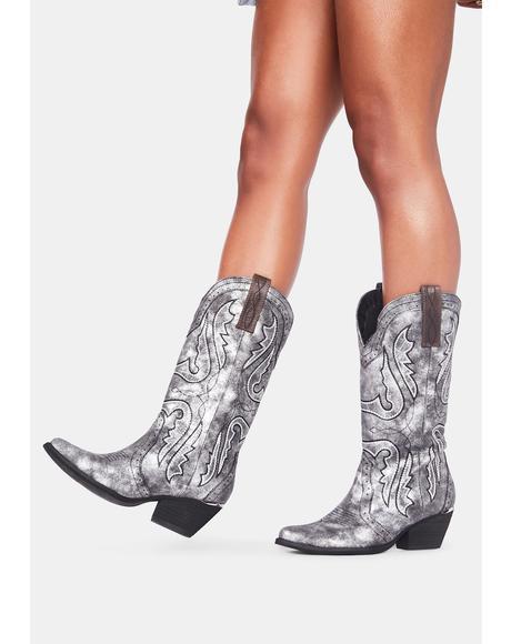 Chromatic Raspy Cowboy Boots