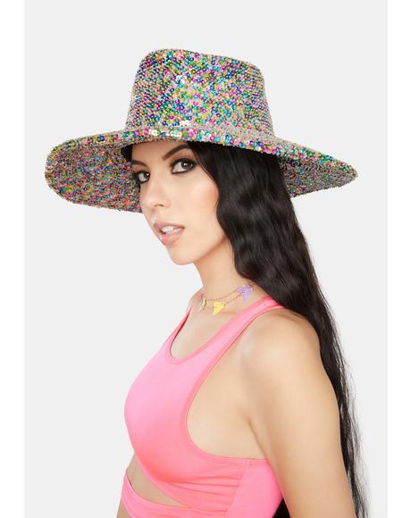 Confetti Sequin Cowboy Hat