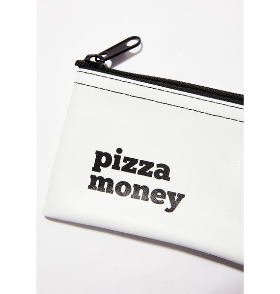 He Said, She Said Pizza Money Vinyl Pouch