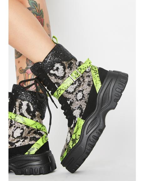 Savage Astro Princess Lace Up Boots