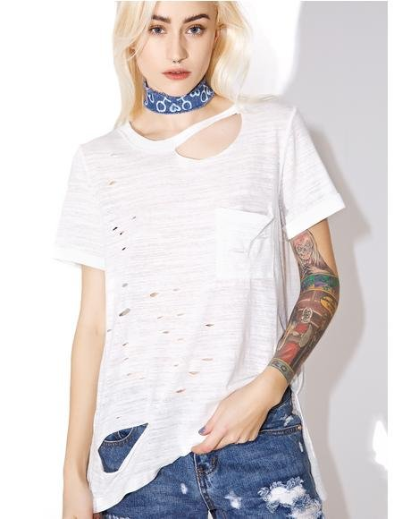 Tough As Nails Distressed Tee