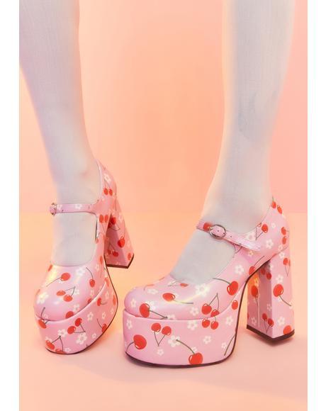 Taste Of Fame Cherry Platform Heels