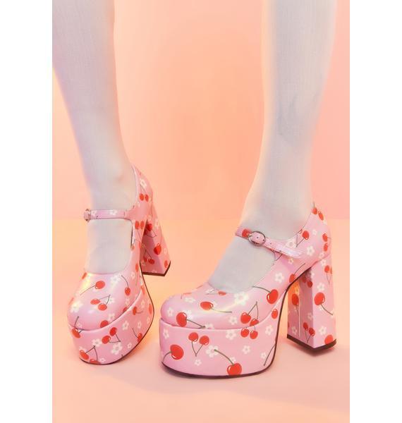 Sugar Thrillz Taste Of Fame Cherry Platform Heels