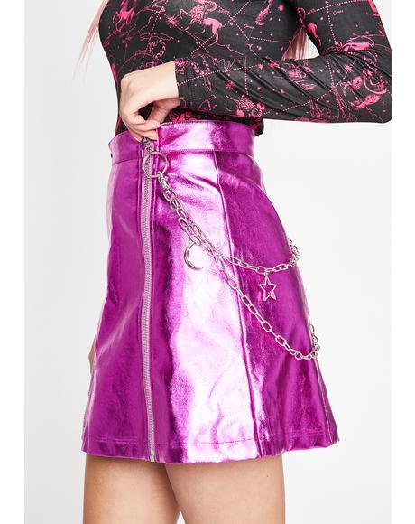 Rebellious Eternity Metallic Skirt
