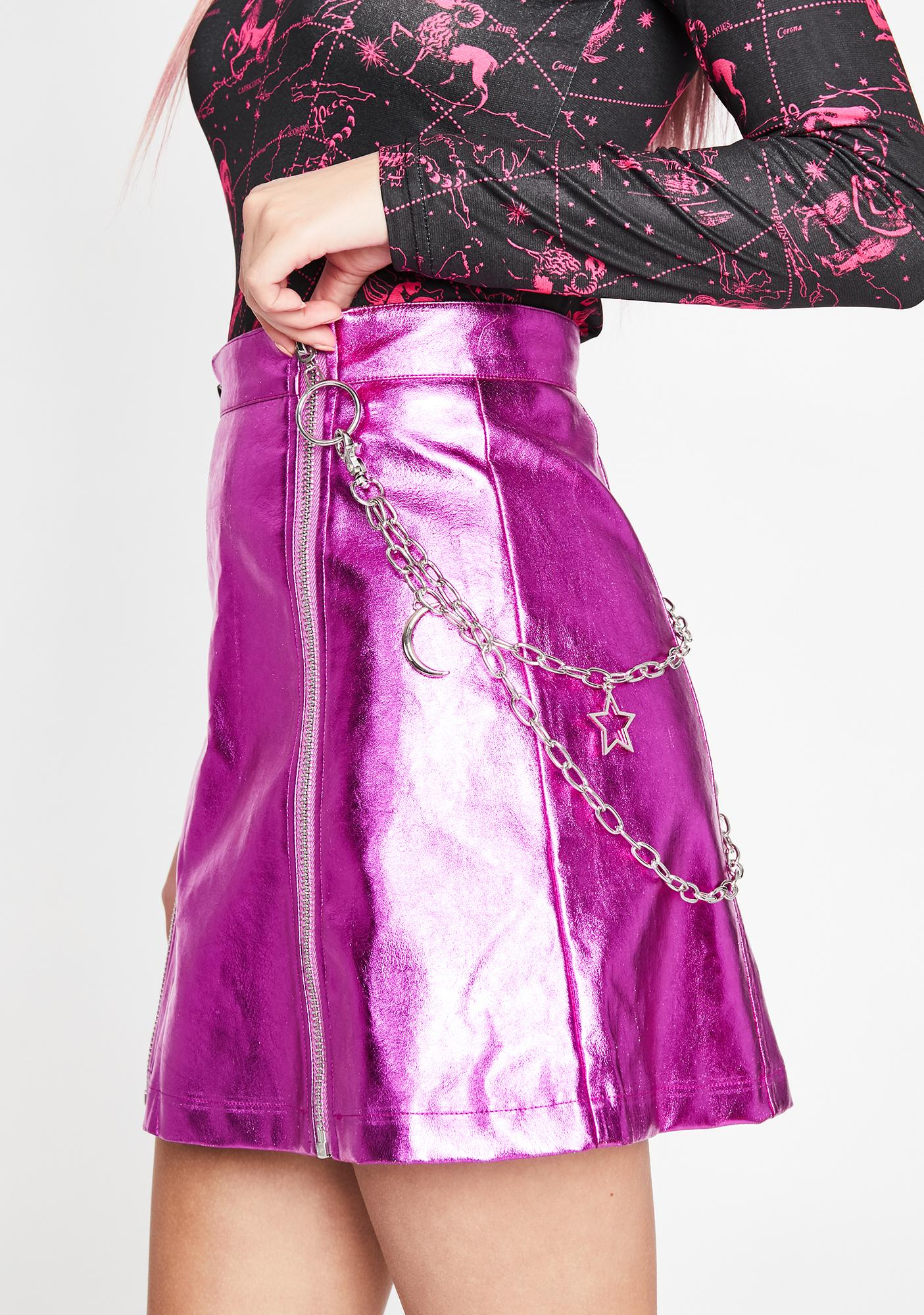 HOROSCOPEZ Rebellious Eternity Metallic Skirt
