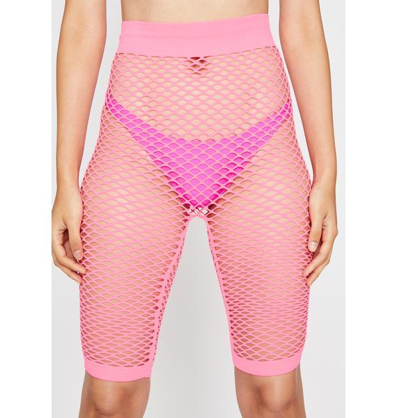 Candy Rockin' Everywhere Fishnet Shorts