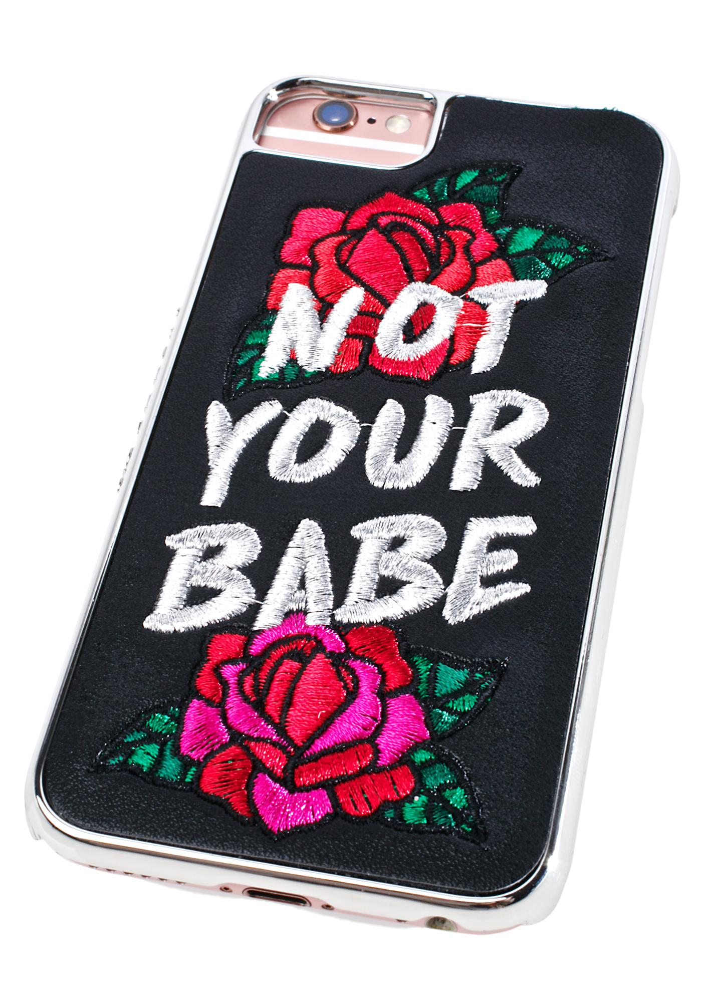 Skinnydip Not Your Babe iPhone Case