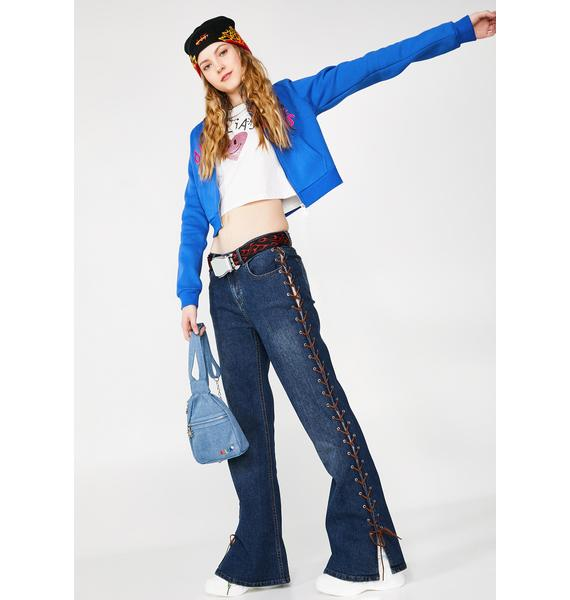 dELiA*s by Dolls Kill Tragic Kingdom Lace-Up Jeans