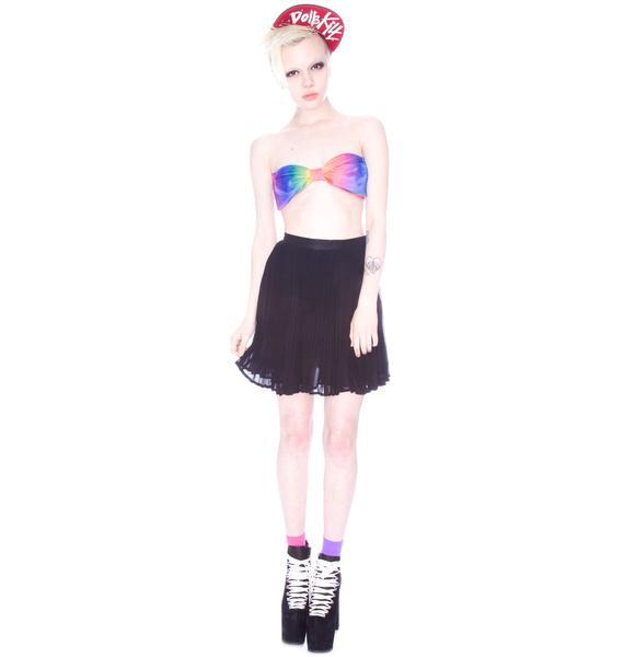 Marialia Rainbow Sherbert Bowtie Bandeau Bra
