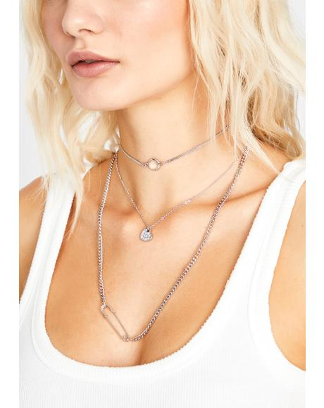 Bangin' Bling Layered Necklace