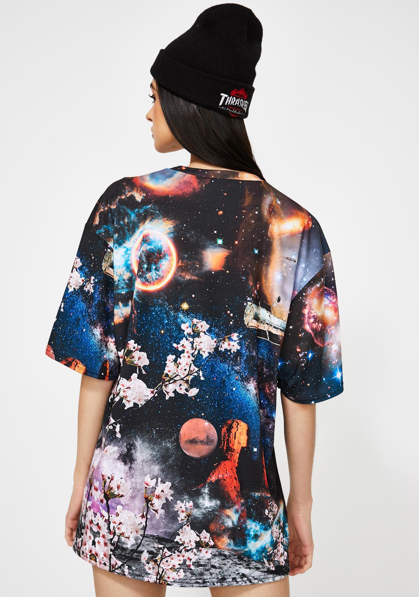 Jaded London Robot Print Short Sleeve T-Shirt