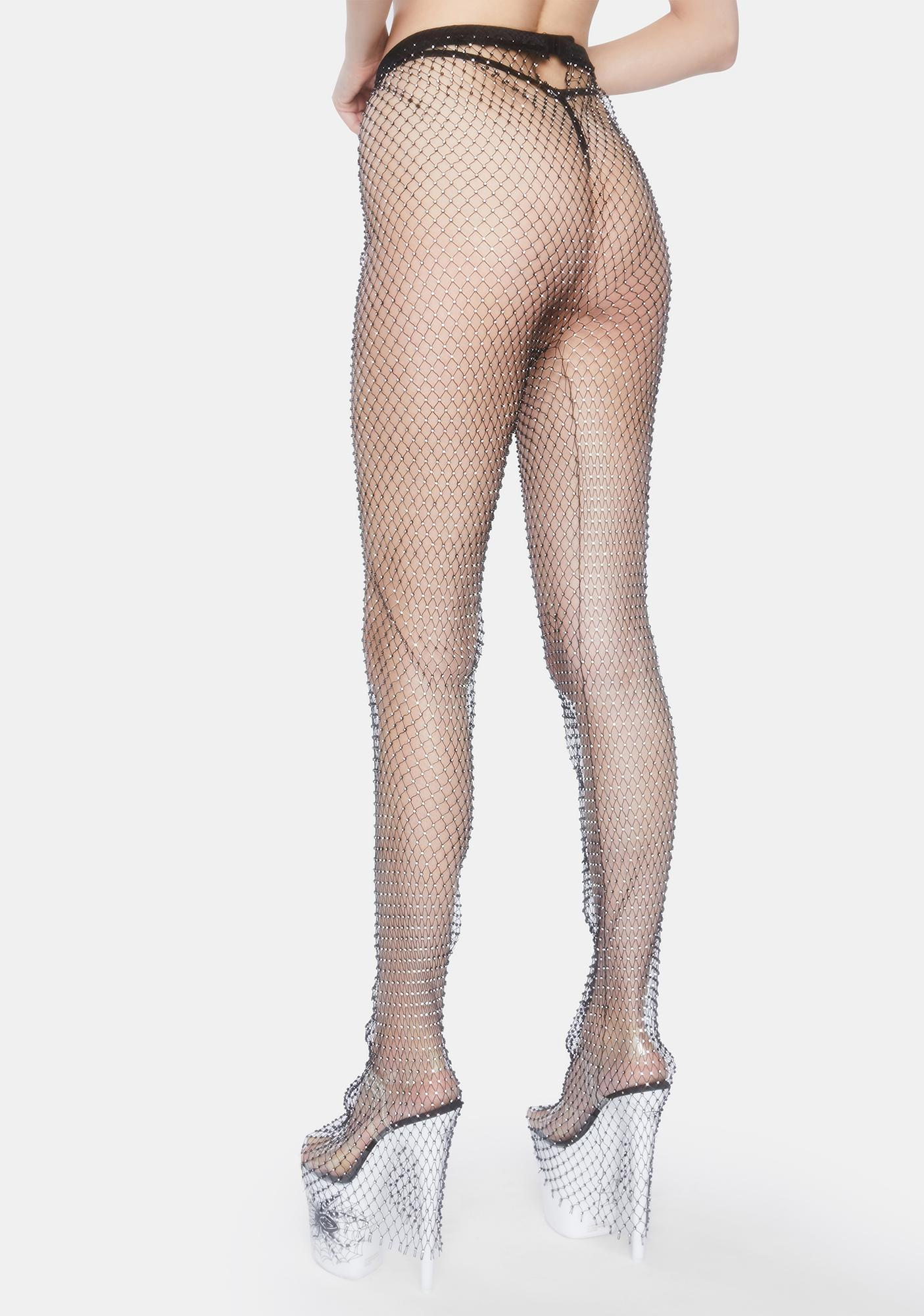 Forplay Sparkle N' Shine Fishnet Legging Set