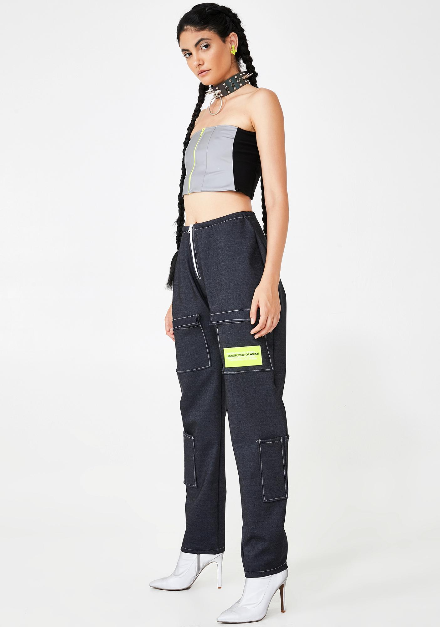 Constructed for Women Oversized Denim Pants
