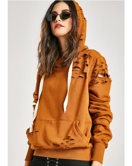 Too Bad Distressed Hoodie