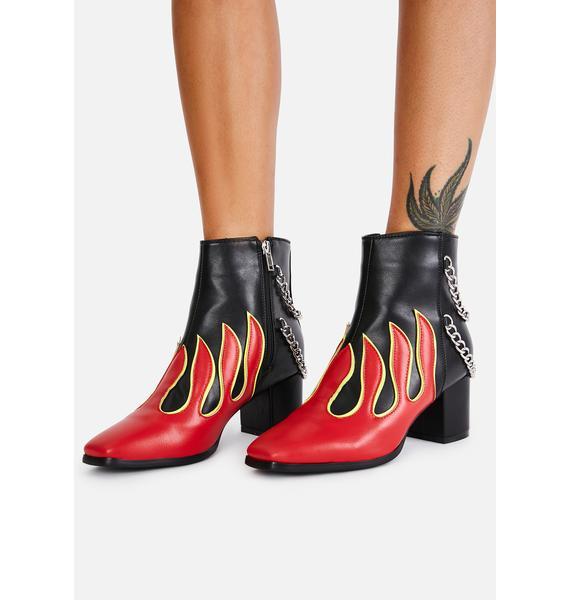 Lamoda Hottie Feel The Fire Ankle Boots