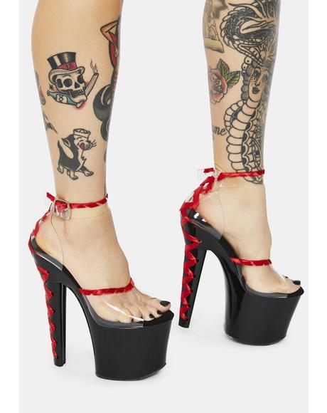 Certified Lover Corset Stiletto Heels