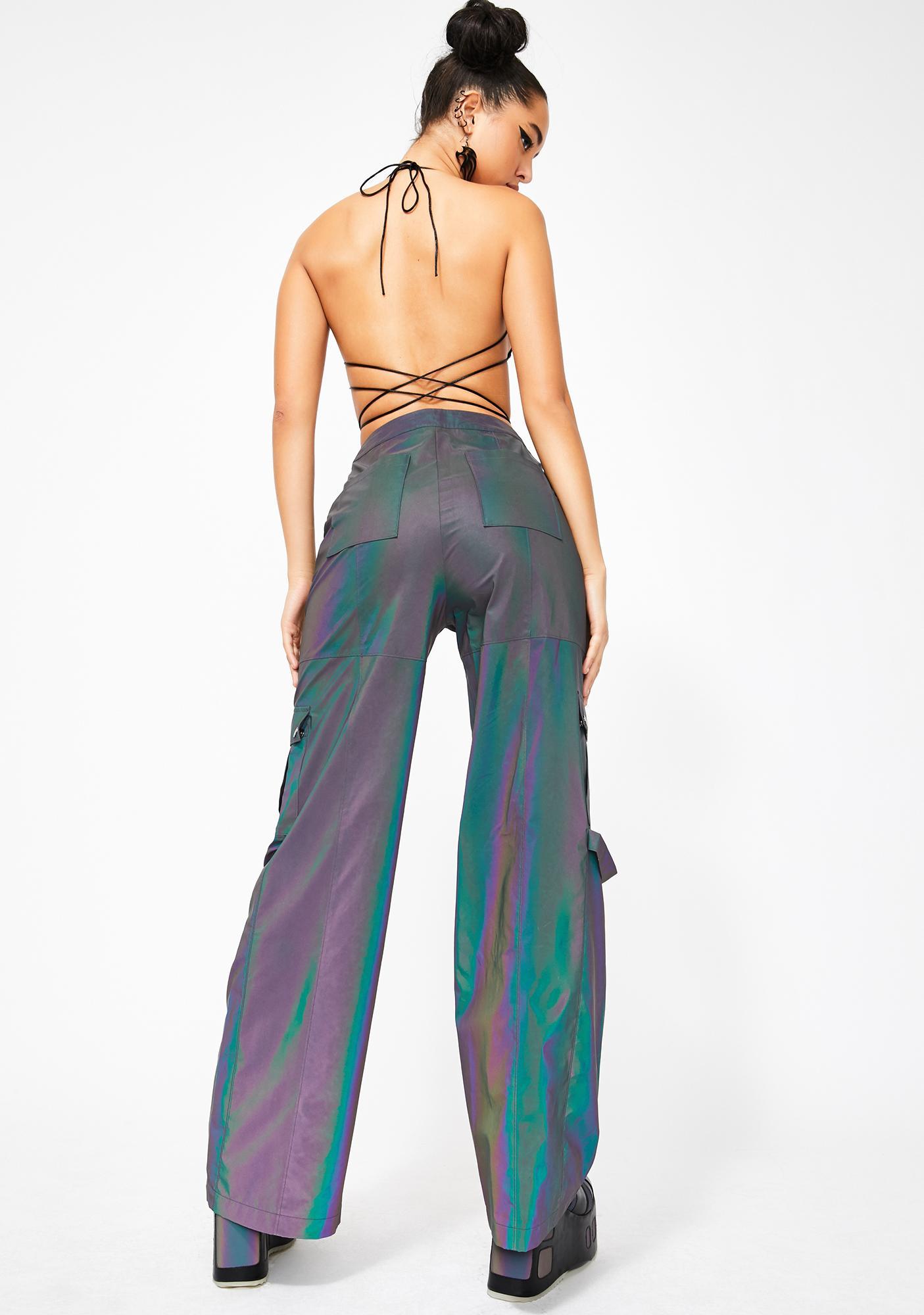 Club Exx Acid House Reflective Cargo Pants