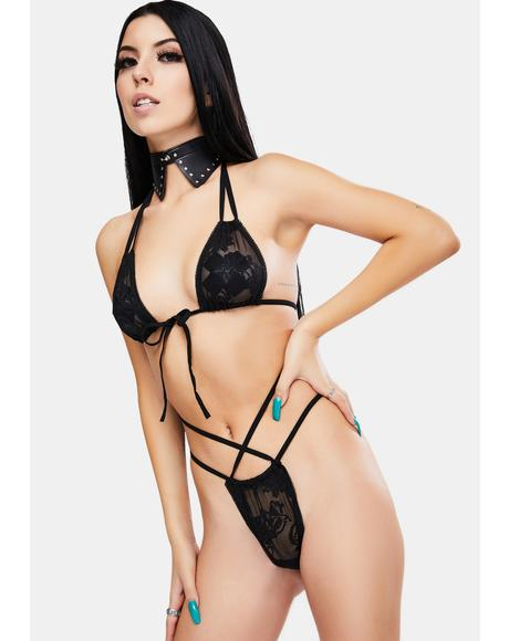 Price U Pay Strappy Lingerie Set