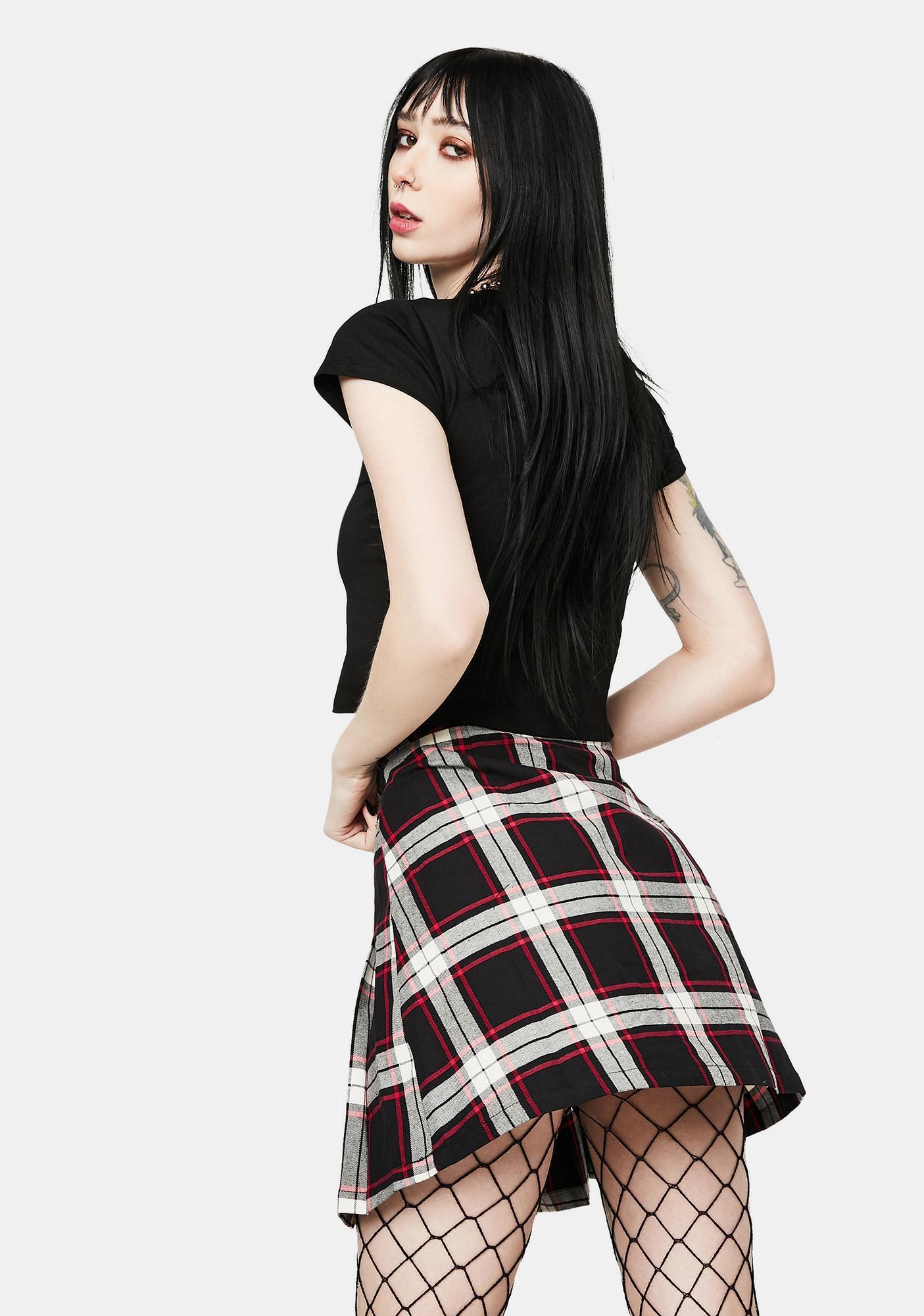 Black Friday Vivienne Plaid Mini Skirt