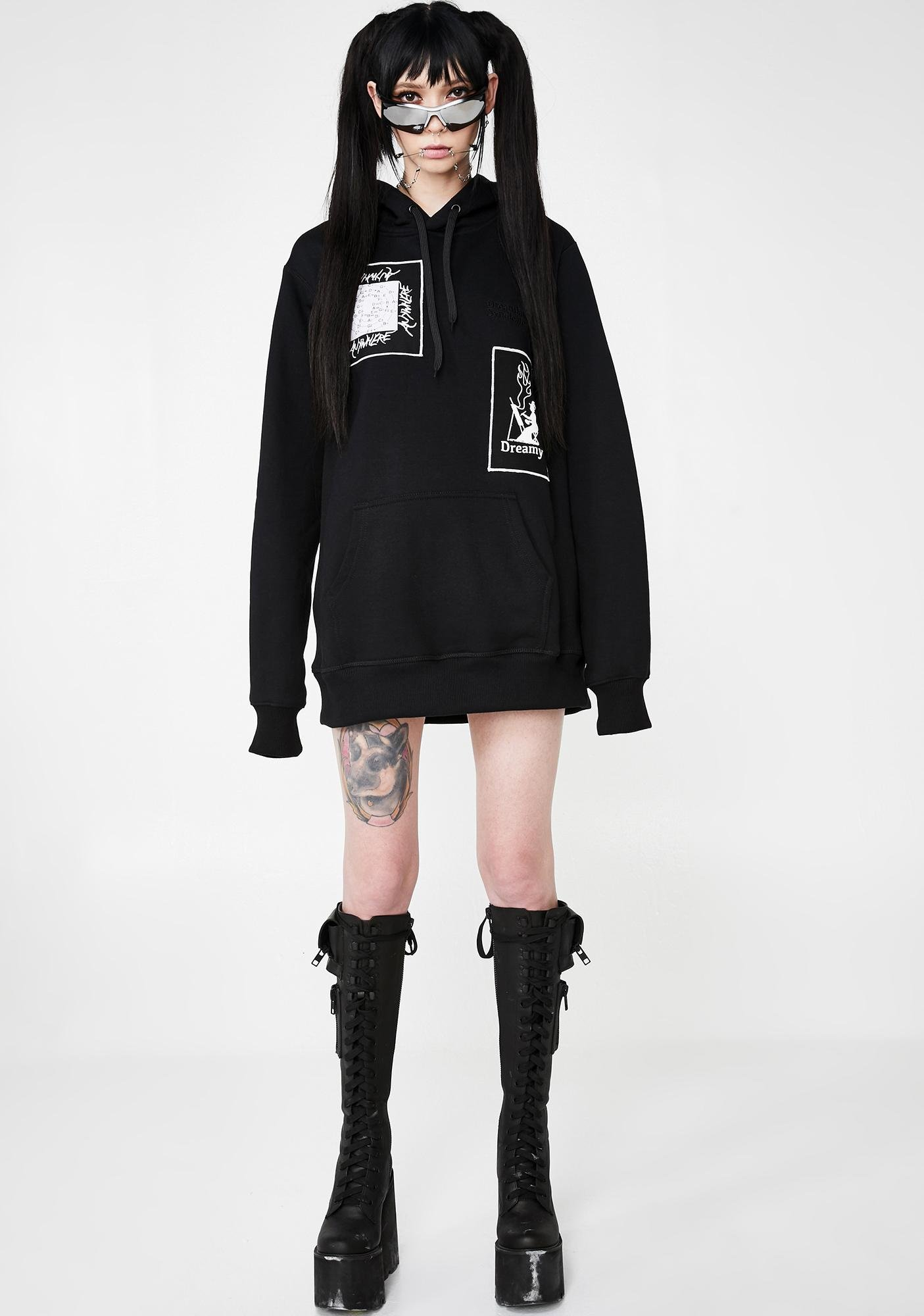 Dreamland Syndicate Hoodie With Patches And Embroidery