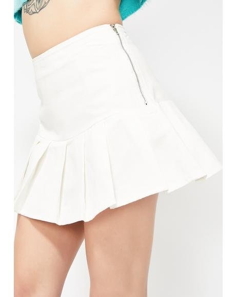 Icy Not Your Bae Pleated Skirt