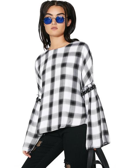 Good Gossip Checkered Blouse