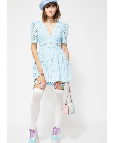 Bubble Pop Electric Mini Dress