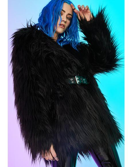 Recipe For Disaster Faux Fur Coat