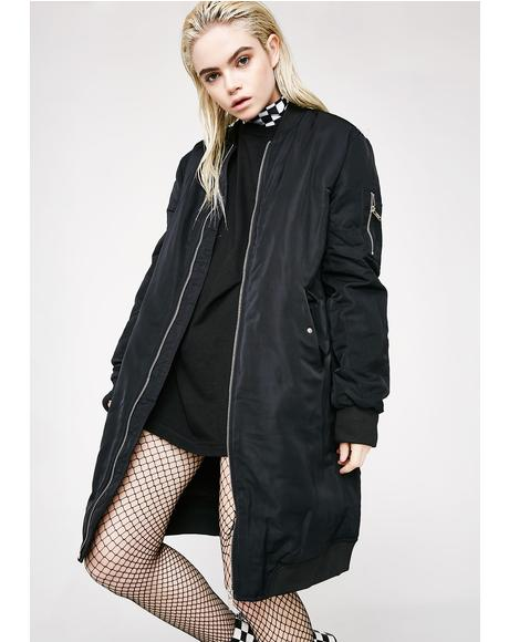 Dark Way Up Bomber Coat