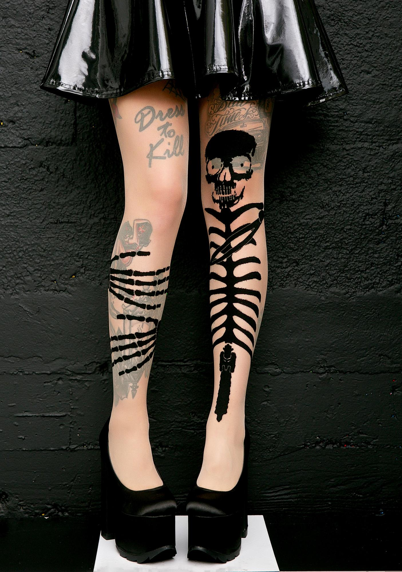 Get A Grip Skeleton Tights