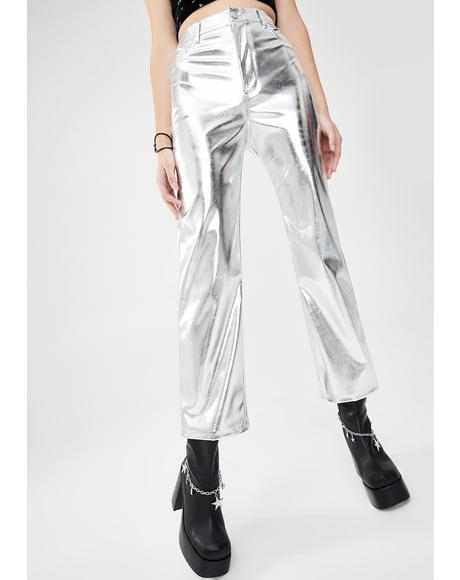Claim To Fame Metallic Pants