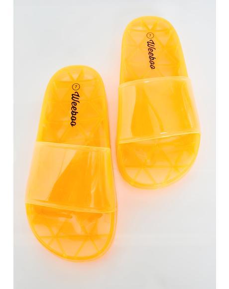 Mango Neon Gumdrop Jelly Slides