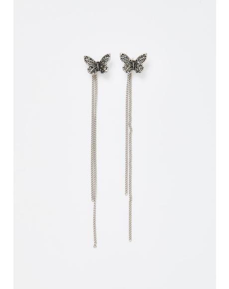 Flutter Fixation Chain Earrings