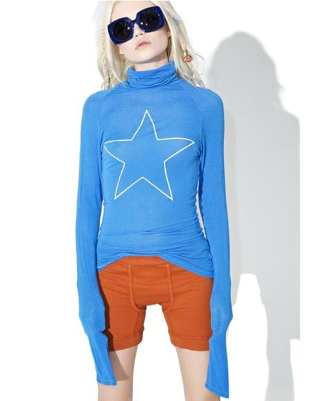 Star Turtleneck Tee