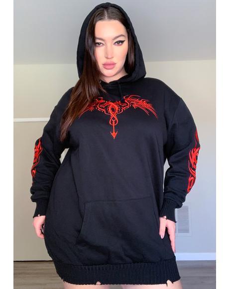 Really Looking For Danger Hoodie Dress
