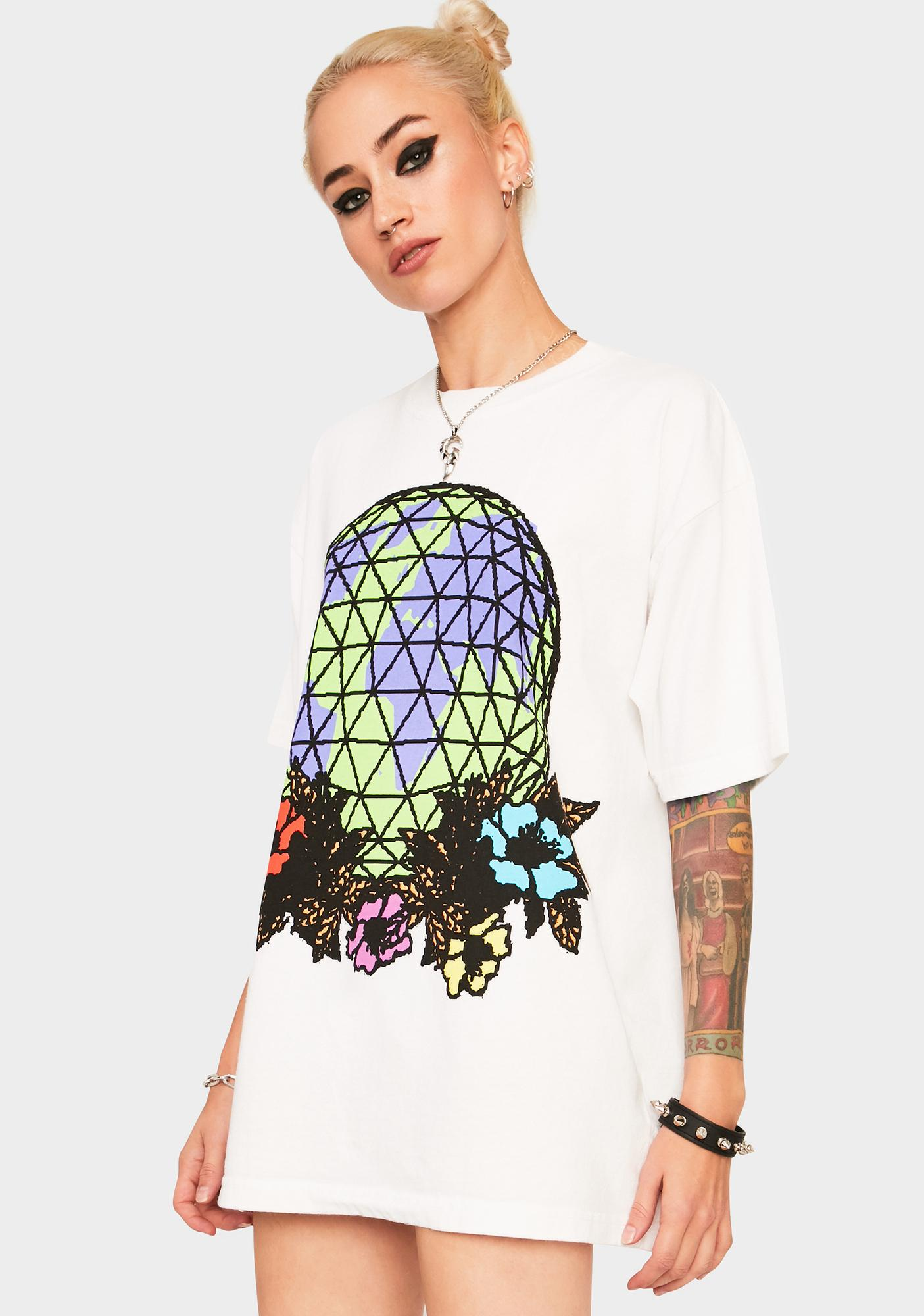 Obey Obey Floral Globe Graphic Tee