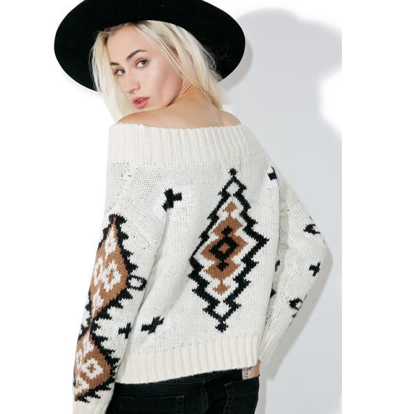 River Valley Off Shoulder Sweater