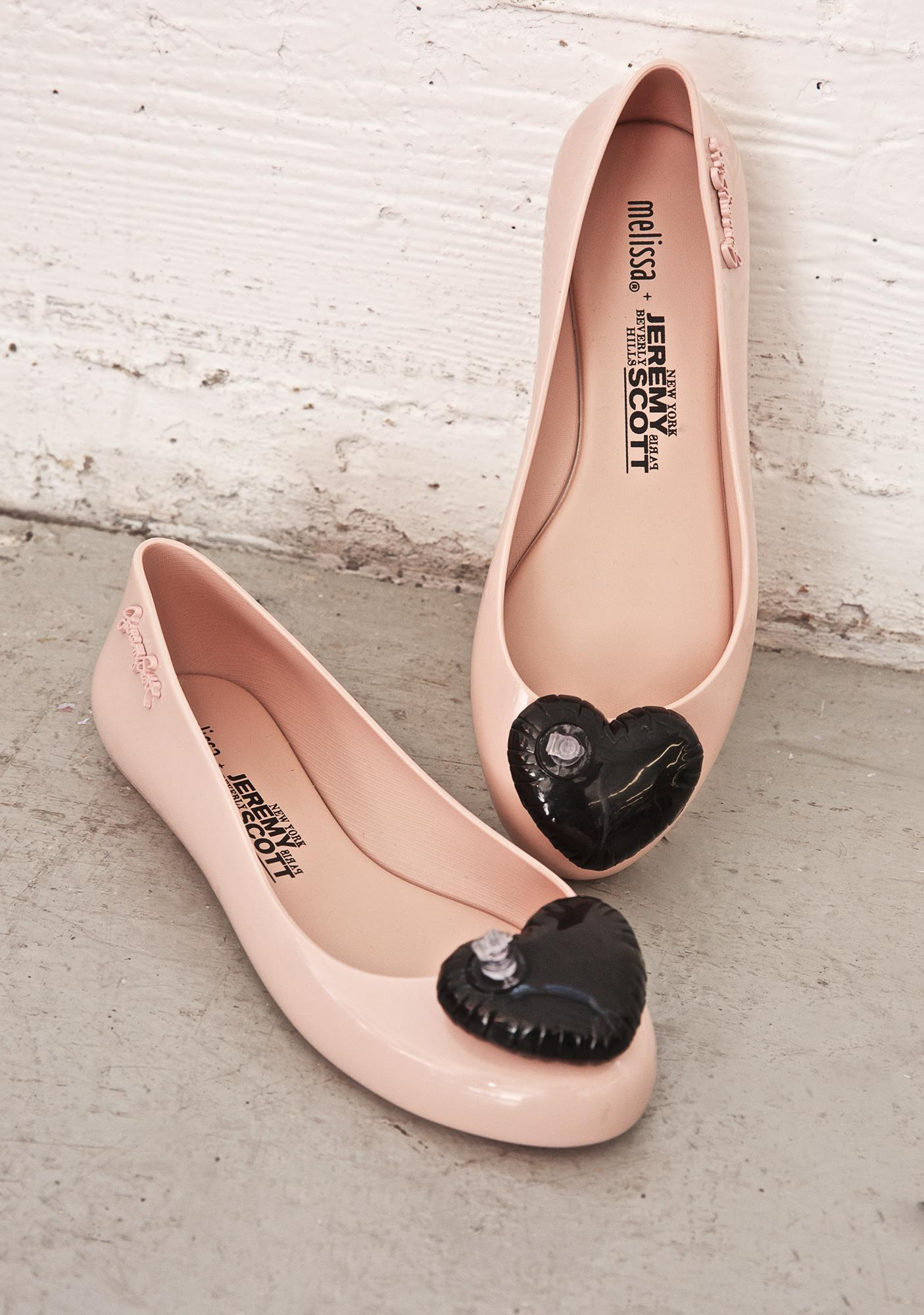 Melissa X Jeremy Scott Blush Space Love Flats