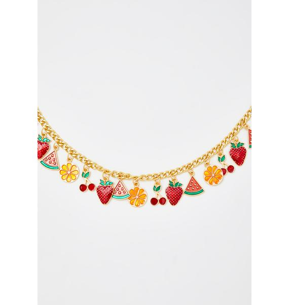 Fresh Squeezed Charm Necklace