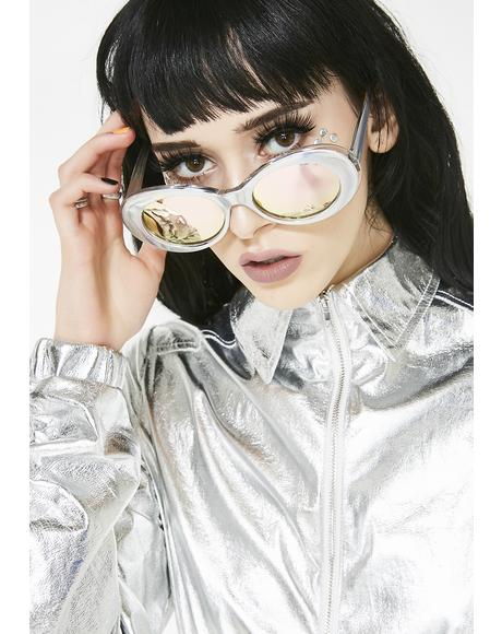 Cosmic Doll Holographic Sunglasses