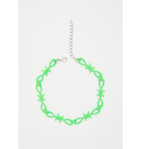 Slime Toxic Touch Barbed Wire Choker