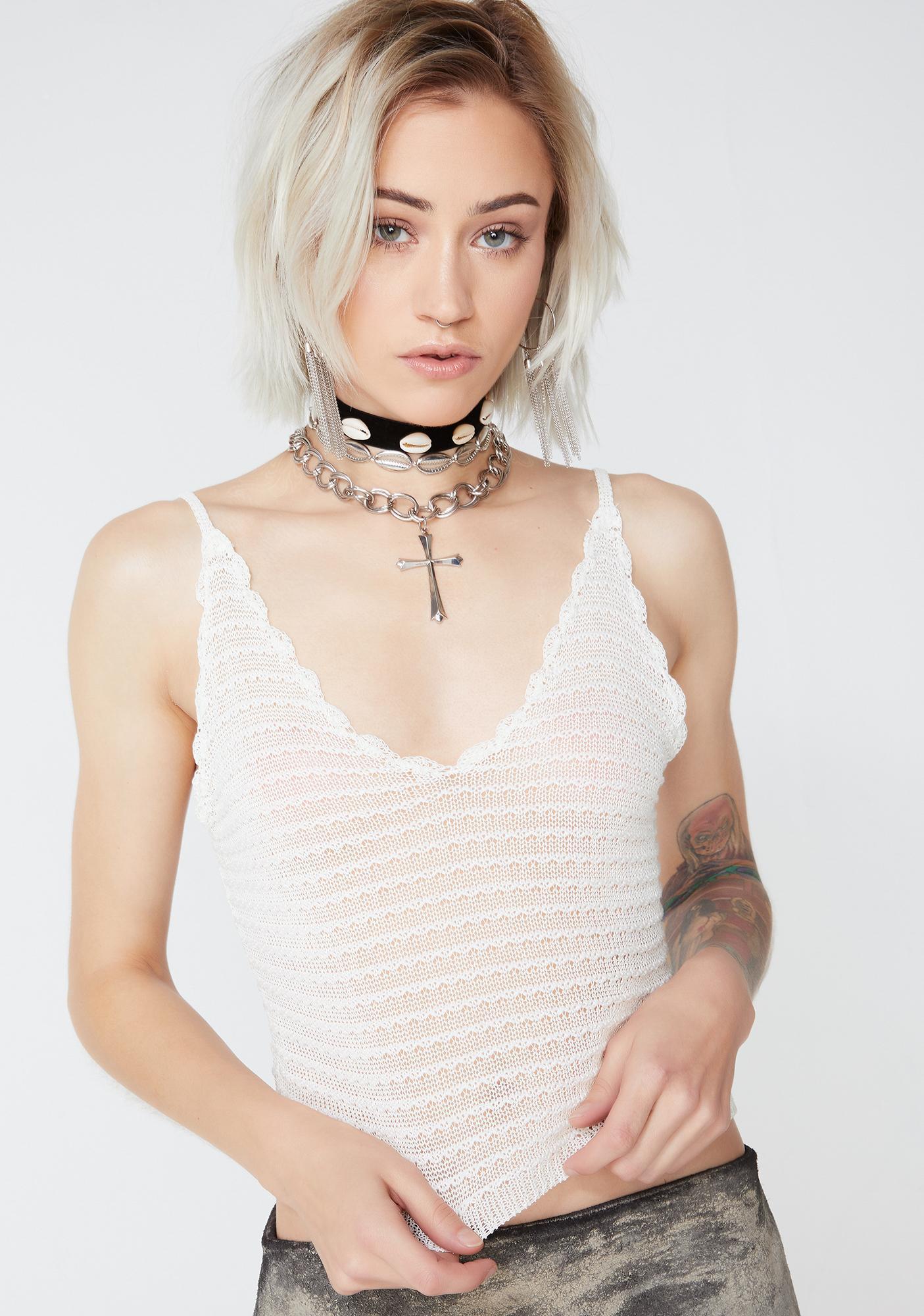 Love Me Up Crochet Tank