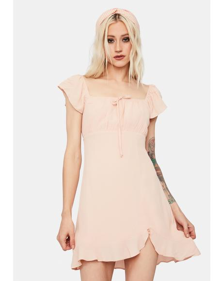 Nectarine Dream Ruffle Mini Dress